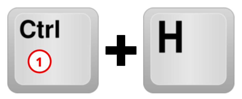 Sneltoets Ctrl+H nr 1 voorbeeld gebruik