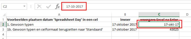 Hoe doe je dat in Excel Datum 01